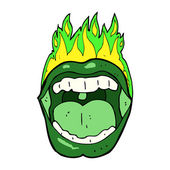 Cartoon halloween mouth — Stock Vector