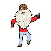 Cartoon stressed old man — Stock vektor