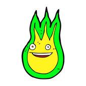 Cartoon friendly fireball — Wektor stockowy