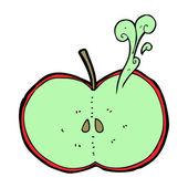 Cartoon skivad äpple — Stockvektor