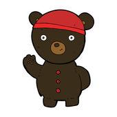 Cartoon black bear cub — Stock Vector