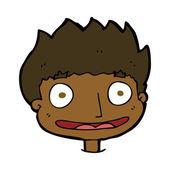 Cartoon happy boy — Stock Vector