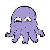 Cartoon alien squid face — Stock Vector