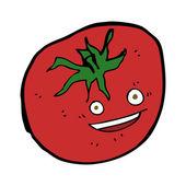 Cartoon gelukkig tomaat — Stockvector