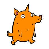 Cartoon funny little dog — Stockvektor