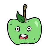 Cartoon apple — Vector de stock