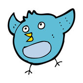 Pájaro feliz de dibujos animados — Vector de stock