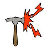 Cartoon hammer — Stock Vector