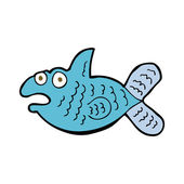 Cartoon fish — Vector de stock