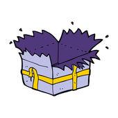 Cartoon open present — ストックベクタ