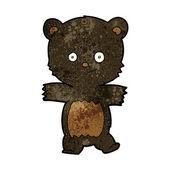 Cute cartoon zwarte beer — Stockvector