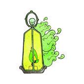Cartoon spooky lantern — Stock Vector