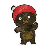 Cute cartoon black bear — Stock Vector