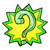 Cartoon question mark — Stock Vector