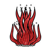 Cartoon seaweed — Vetorial Stock