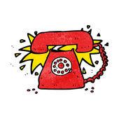 Cartoon ringing telephone — Stock Vector
