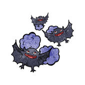 Cartoon vampire bats — Stockvektor