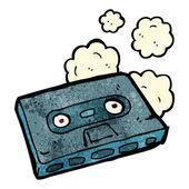 Cartoon cassette tape — Stockvector