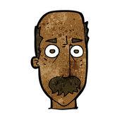 留着胡子的卡通人 — Stock vektor