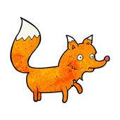 мультфильм лиса детеныш — Cтоковый вектор