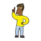 Karikatur mann mit beschwerde — Stockvektor