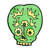 Cartoon sugar skull — Stockvektor