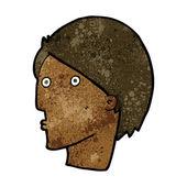 Cartoon verbaasd gezicht — Stockvector