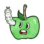 Apple dos desenhos animados com bug — Vetorial Stock