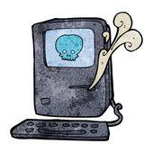 Computervirus cartoon — Stockvector
