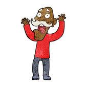 Cartoon old man getting a fright — Vector de stock