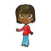 Cartoon-Frau mit offenen Armen — Stockvektor