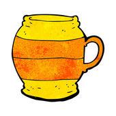 Cartoon big mug — Stock Vector