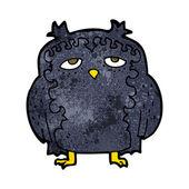 Cartoon wise old owl — Stock Vector