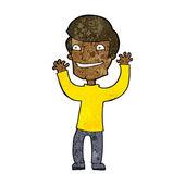 Kreslený vzrušený muž — Stock vektor