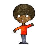Kreslený šokovaný chlapec — Stock vektor