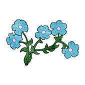 Flores de desenho animado — Vetorial Stock