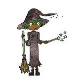 Kreskówka czarownica odlewania pisowni — Wektor stockowy