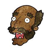 Kreslený šokován starý muž — Stock vektor