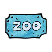 Cartoon zoo sign — Stock Vector