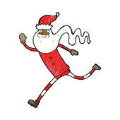 Kreslený běží santa — Stock vektor