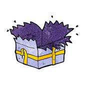 Cartoon open present — Vetorial Stock
