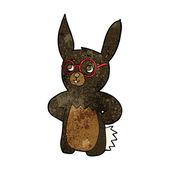 Cartoon rabbit wearing spectacles — Vetorial Stock