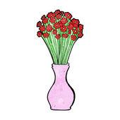 Desenho flores em pote — Vetorial Stock
