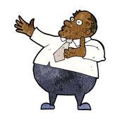 Cartoon exasperated middle aged man — Stockvektor
