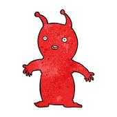 Cartoon happy little alien — Vector de stock