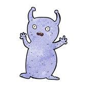 Cartoon funny little alien — Vecteur