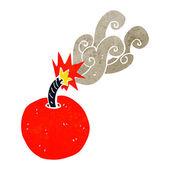 Cartoon burning bomb — Stock Vector