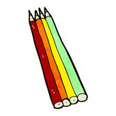 Kreslený pastelkami — Stock vektor