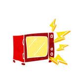 Cartoon mikrovågsugn — Stockvektor