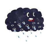 Cartoon rain cloud — Stock Vector